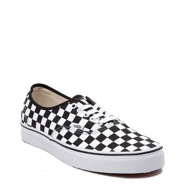 alternate view Vans Authentic Checkerboard Skate Shoe - Black / WhiteALT5
