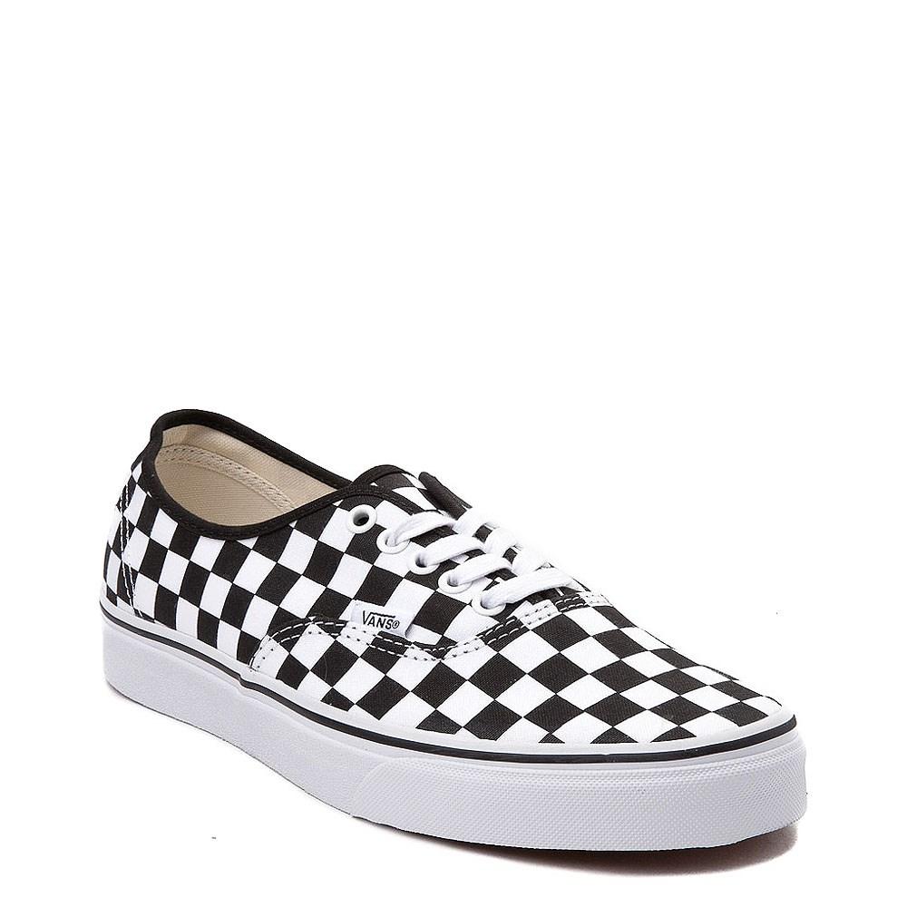 vans authentic checkerboard black white