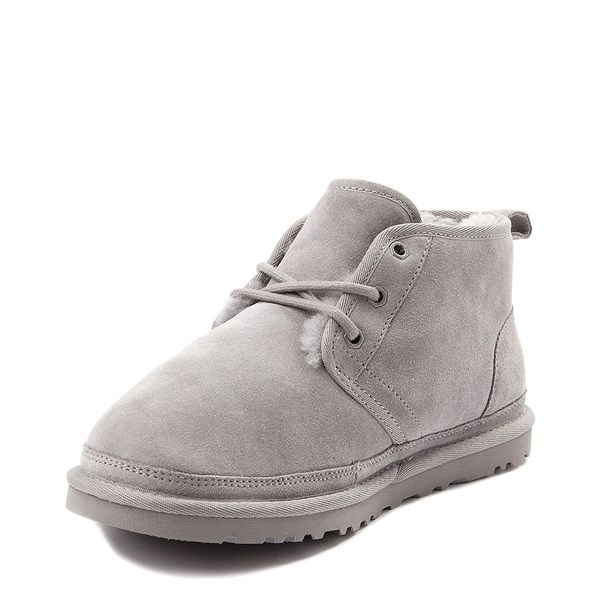 alternate view Womens UGG® Neumel Short Boot - Light GrayALT3