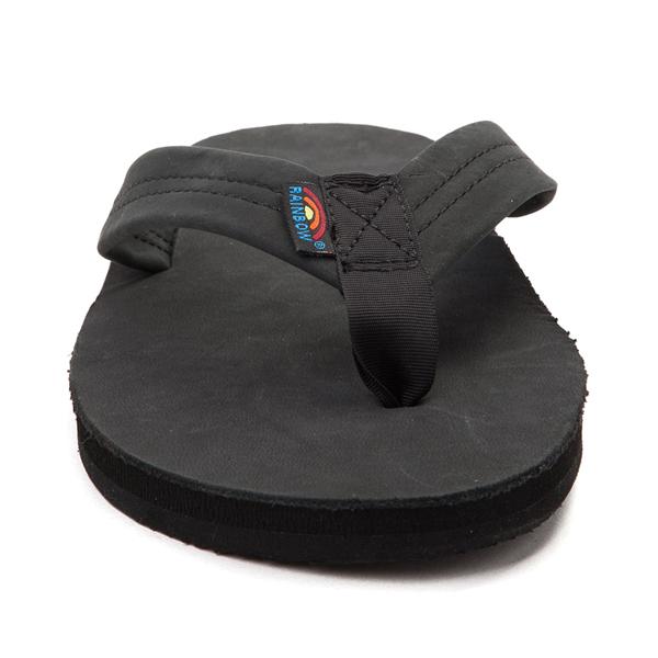 alternate view Mens Rainbow 301 Leather Sandal - BlackALT4