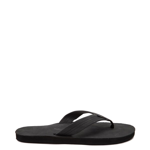Mens Rainbow 301 Leather Sandal - Black