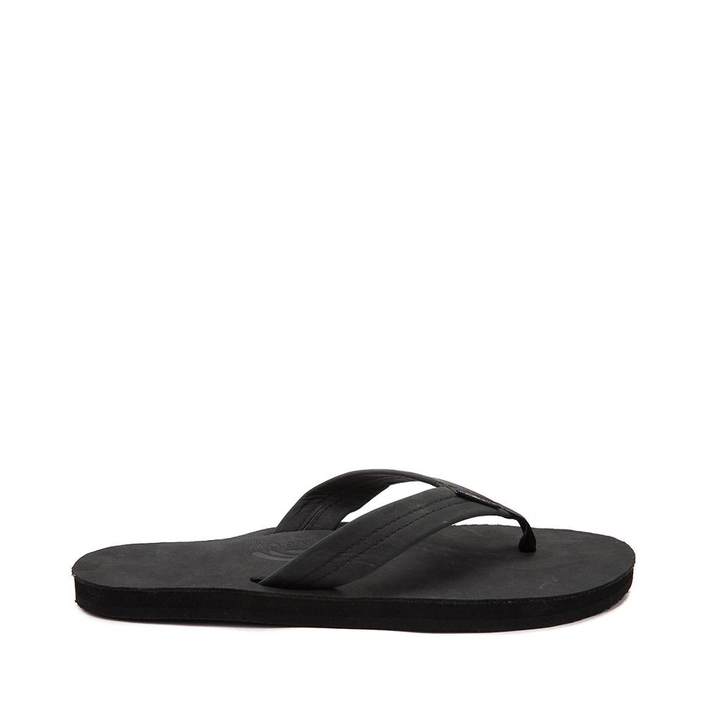 Mens Rainbow 301 Leather Sandal - Black