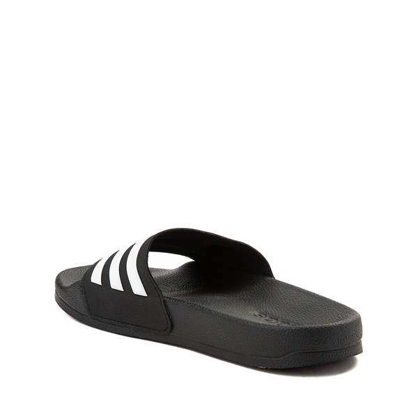 alternate view adidas Adilette Shower Slide Sandal - Little Kid / Big Kid - BlackALT1