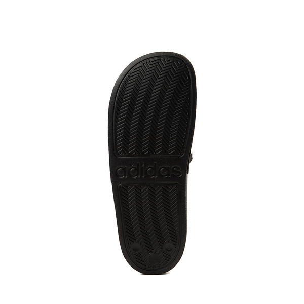 alternate view adidas Adilette Shower Slide Sandal - Little Kid / Big Kid - BlackALT3