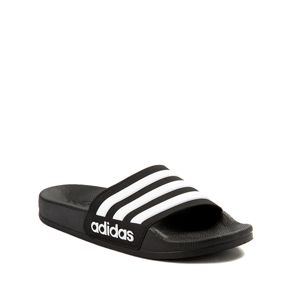 alternate view adidas Adilette Shower Slide Sandal - Little Kid / Big Kid - BlackALT5