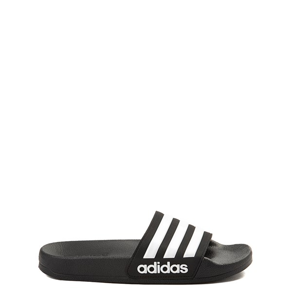 adidas Adilette Shower Slide Sandal - Little Kid / Big Kid - Black / White