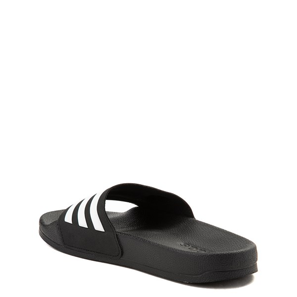 alternate view adidas Adilette Shower Slide Sandal - Little Kid / Big Kid - BlackALT2