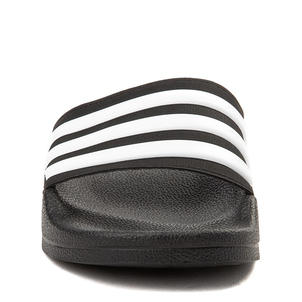 alternate view adidas Adilette Shower Slide Sandal - Little Kid / Big Kid - BlackALT4