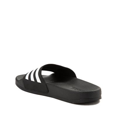 Alternate view of adidas Adilette Shower Slide Sandal - Little Kid / Big Kid - Black