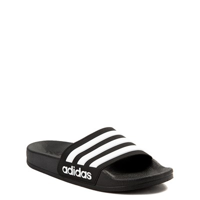 Alternate view of adidas Adilette Shower Slide Sandal - Little Kid / Big Kid - Black