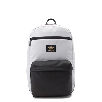 Main view of White and Black adidas National Backpack