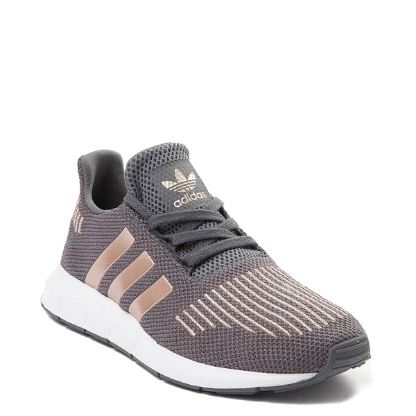 alternate view adidas Swift Run Athletic Shoe - Little Kid - Gray / CopperALT1