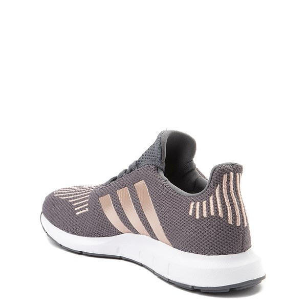 alternate view adidas Swift Run Athletic Shoe - Little Kid - Gray / CopperALT2