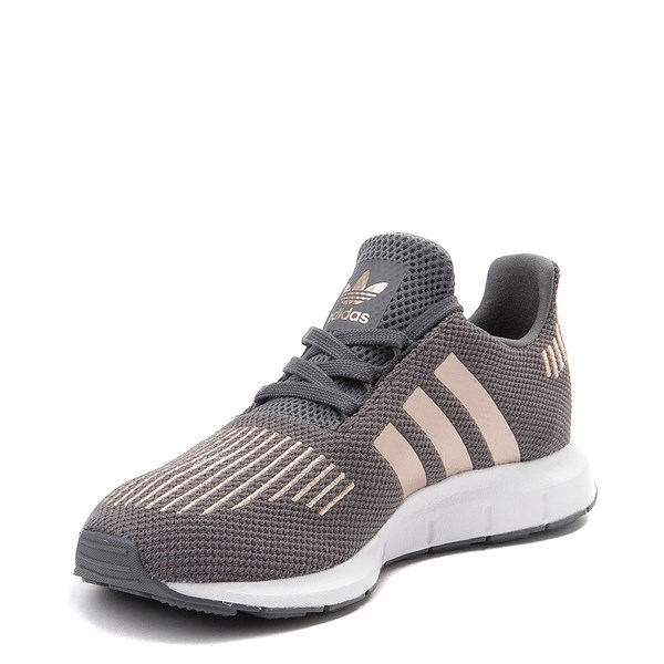 alternate view adidas Swift Run Athletic Shoe - Little Kid - Gray / CopperALT3