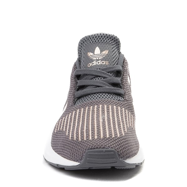alternate view adidas Swift Run Athletic Shoe - Little Kid - Gray / CopperALT4