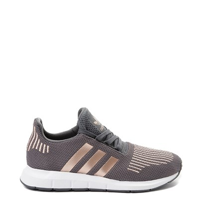 Main view of adidas Swift Run Athletic Shoe - Little Kid - Gray / Copper