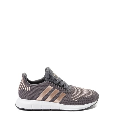Main view of adidas Swift Run Athletic Shoe - Big Kid - Gray / Copper