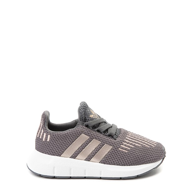 adidas Swift Run Athletic Shoe - Baby / Toddler - Gray / Copper