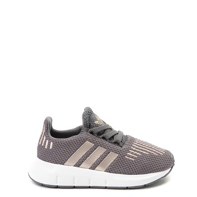 Main view of adidas Swift Run Athletic Shoe - Baby / Toddler - Gray / Copper