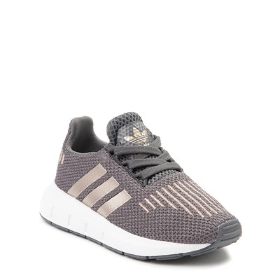 Alternate view of adidas Swift Run Athletic Shoe - Baby / Toddler - Gray / Copper
