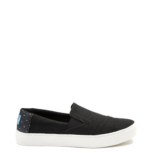Womens TOMS Luca Slip On Casual Shoe - Black