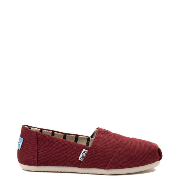 Womens TOMS Classic Slip On Casual Shoe - Black Cherry