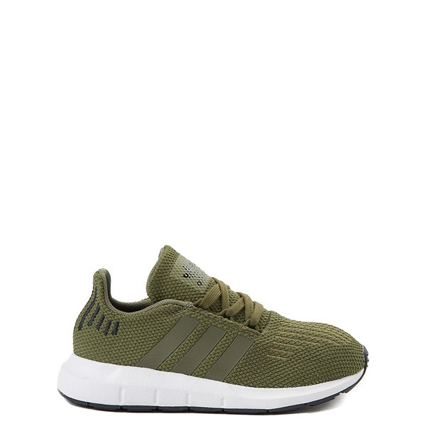 Main view of adidas Swift Run Athletic Shoe - Little Kid - Olive