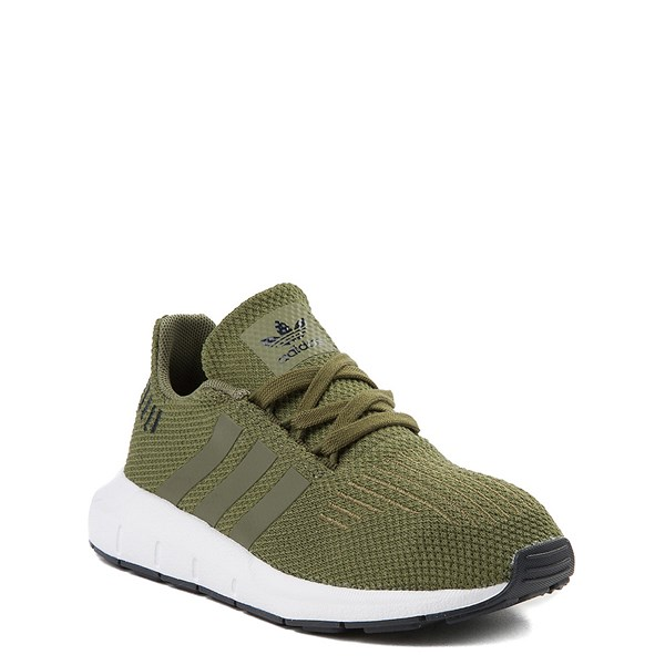 alternate view adidas Swift Run Athletic Shoe - Little Kid - OliveALT1