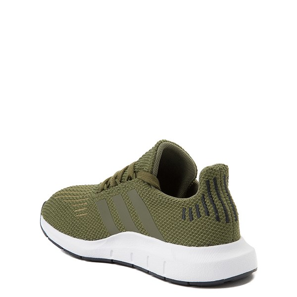 alternate view adidas Swift Run Athletic Shoe - Little Kid - OliveALT2