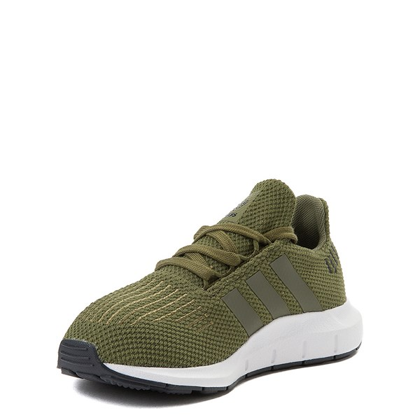 alternate view adidas Swift Run Athletic Shoe - Little Kid - OliveALT3