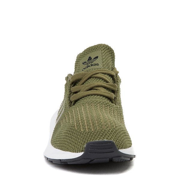 alternate view adidas Swift Run Athletic Shoe - Little Kid - OliveALT4