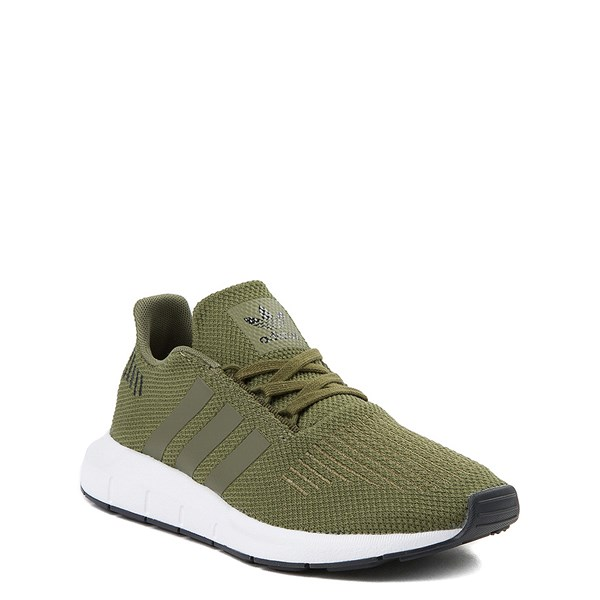 alternate view adidas Swift Run Athletic Shoe - Big Kid - OliveALT1