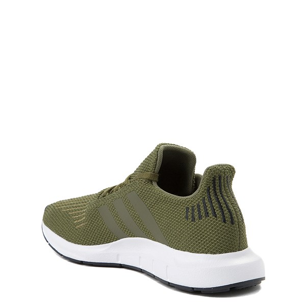 alternate view adidas Swift Run Athletic Shoe - Big Kid - OliveALT2