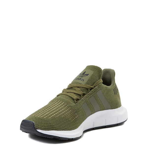 alternate view adidas Swift Run Athletic Shoe - Big Kid - OliveALT3