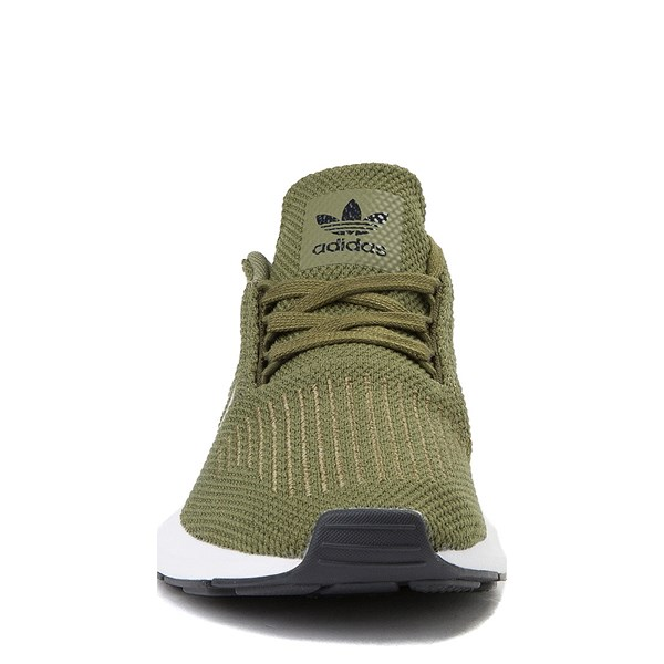 alternate view adidas Swift Run Athletic Shoe - Big Kid - OliveALT4