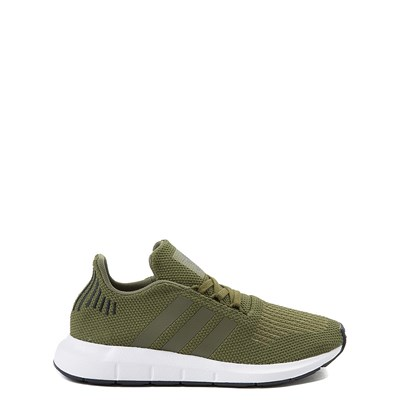 Main view of adidas Swift Run Athletic Shoe - Big Kid - Olive