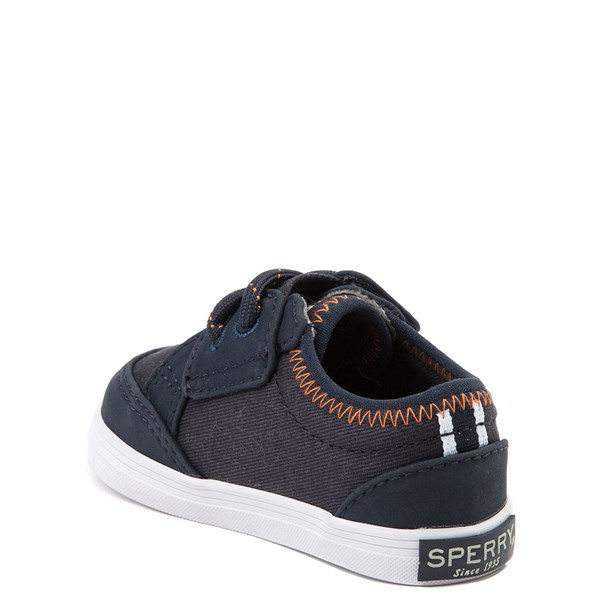 alternate view Sperry Top-Sider Deckfin Casual Shoe - Baby - Navy / OrangeALT2