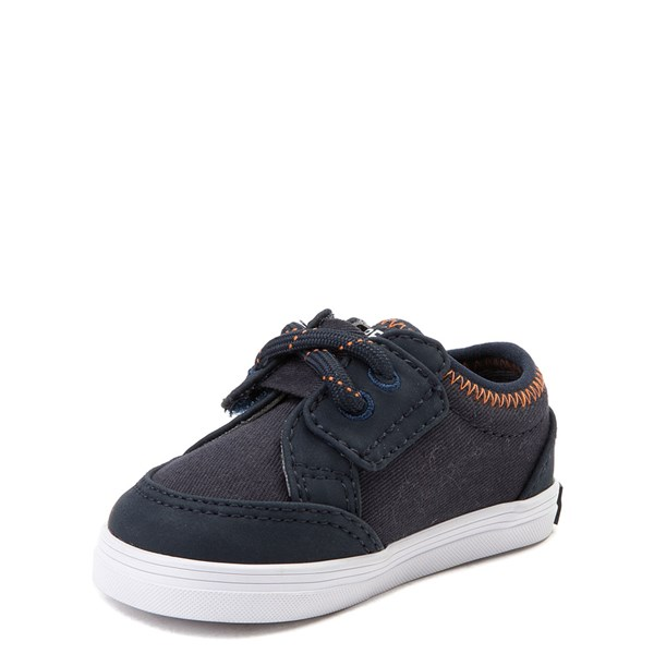 alternate view Sperry Top-Sider Deckfin Casual Shoe - Baby - Navy / OrangeALT3
