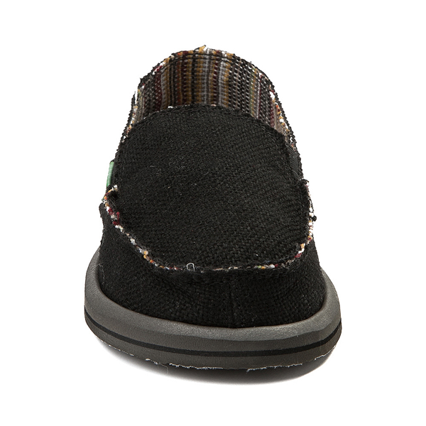 alternate view Womens Sanuk Donna Hemp Slip On Casual Shoe - BlackALT4
