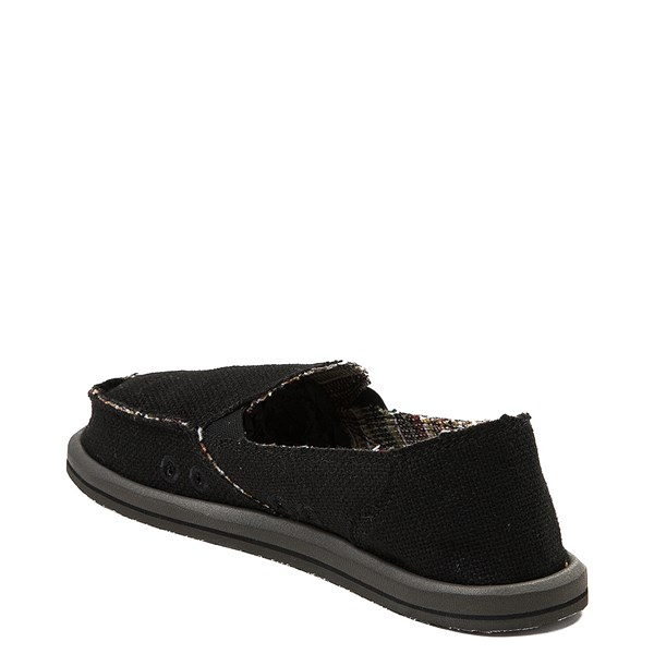 alternate view Womens Sanuk Donna Hemp Slip On Casual Shoe - BlackALT2