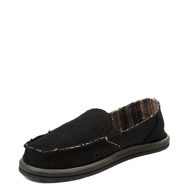 alternate view Womens Sanuk Donna Hemp Slip On Casual Shoe - BlackALT3