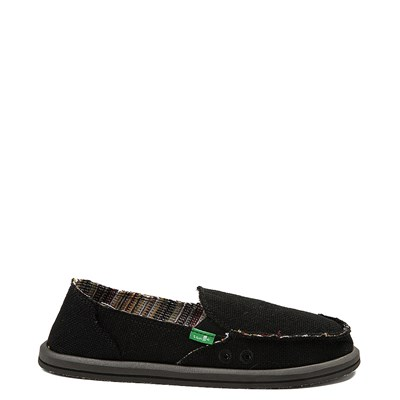 Main view of Womens Sanuk Donna Hemp Slip On Casual Shoe - Black
