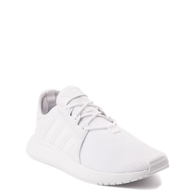 Alternate view of adidas X_PLR Athletic Shoe - Big Kid - White Monochrome