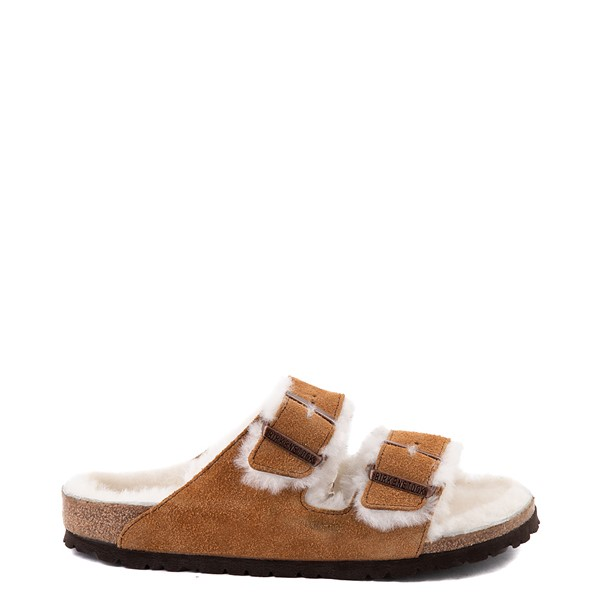 Main view of Womens Birkenstock Arizona Shearling Sandal - Mink