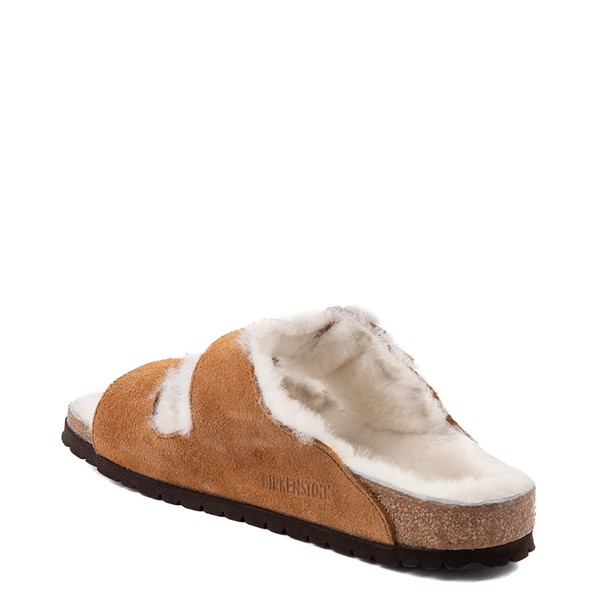 alternate view Womens Birkenstock Arizona Shearling Sandal - MinkALT1