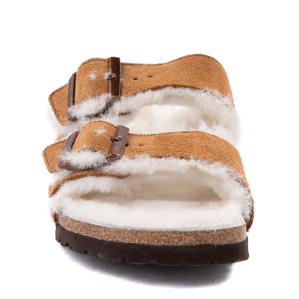 alternate view Womens Birkenstock Arizona Shearling Sandal - MinkALT4