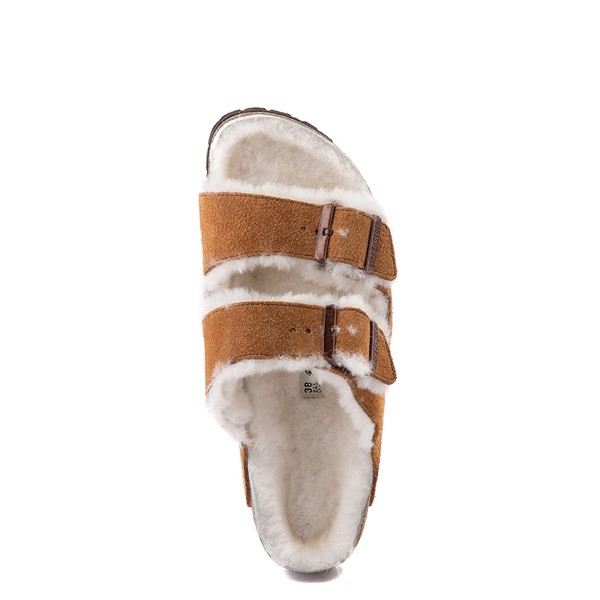 alternate view Womens Birkenstock Arizona Shearling Sandal - MinkALT4B