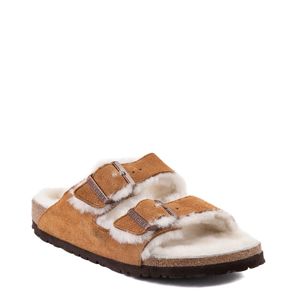 alternate view Womens Birkenstock Arizona Shearling Sandal - MinkALT5