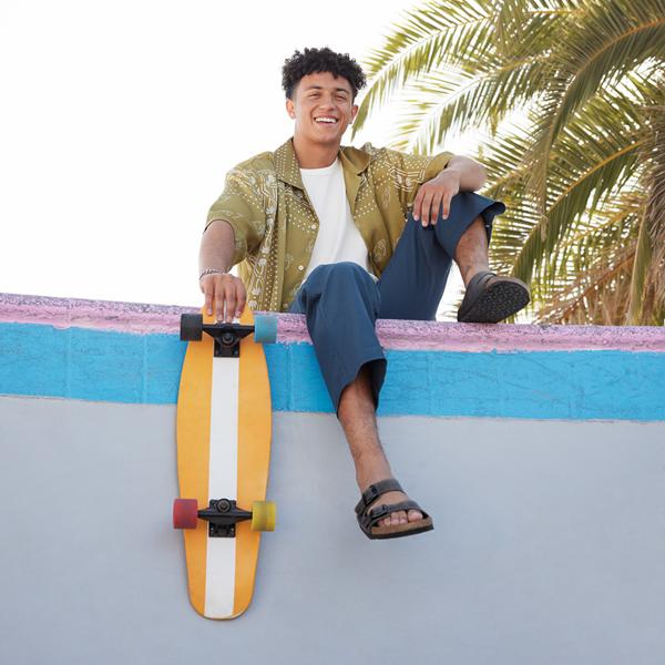 alternate view Mens Birkenstock Arizona Soft Footbed Sandal - IronALT1B
