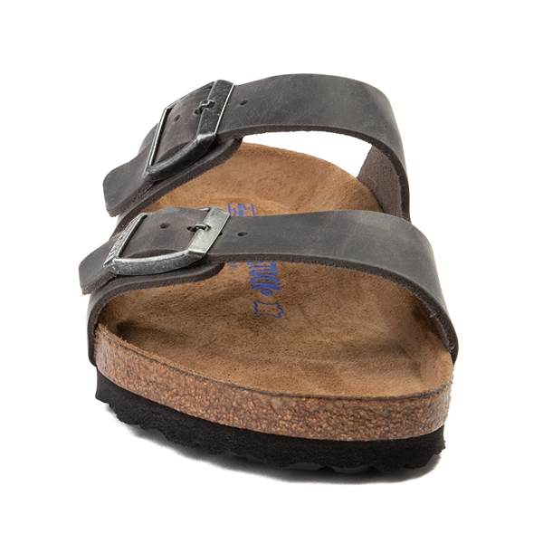 alternate view Mens Birkenstock Arizona Soft Footbed Sandal - IronALT4